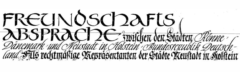 Anfang der Freundschaftsabsprache zwischen Rönne und Neustadt in Holstein