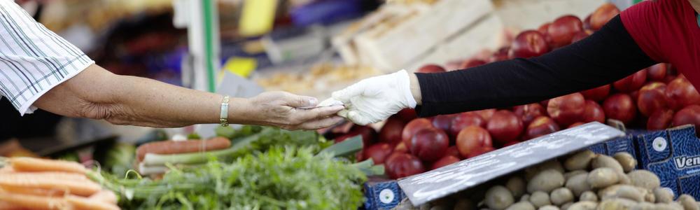 Handel auf dem Neustädter Wochenmarkt