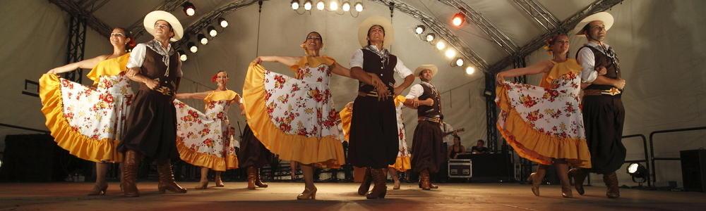 Auftritt einer argentinischen Gruppe auf dem europäischen folklore festival 2013
